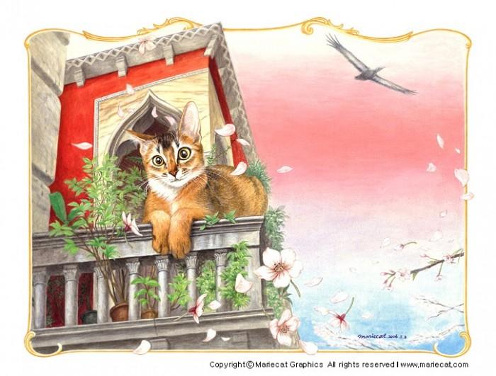 Рисунки кошек от Mariecat