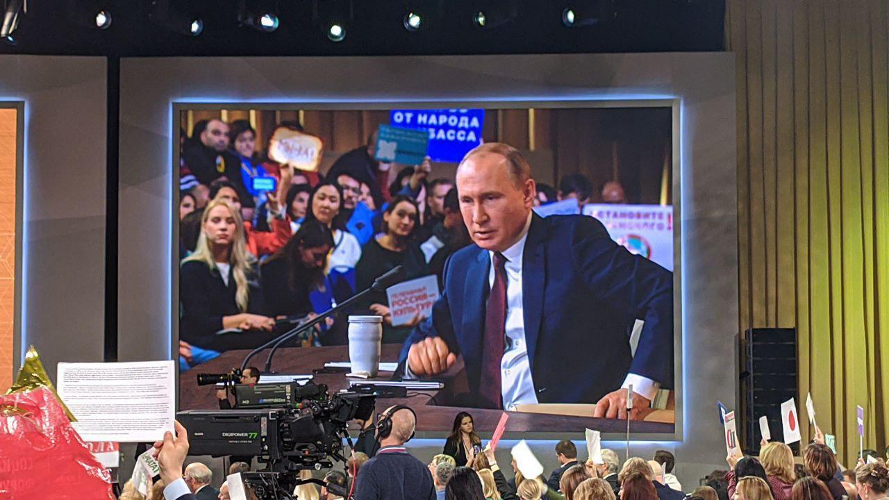 Ежегодный брифинг президента глазами донецких журналистов. Денис Григорюк