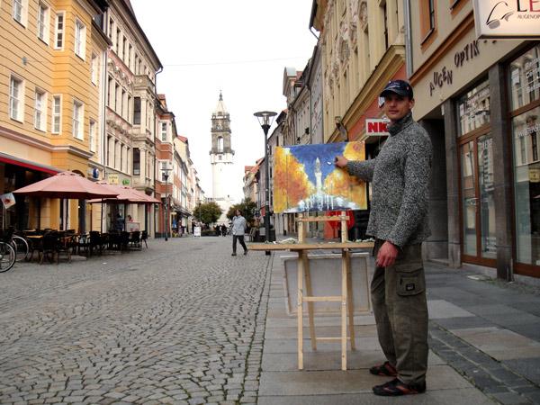 Я был в творческой поездке по Европе.
