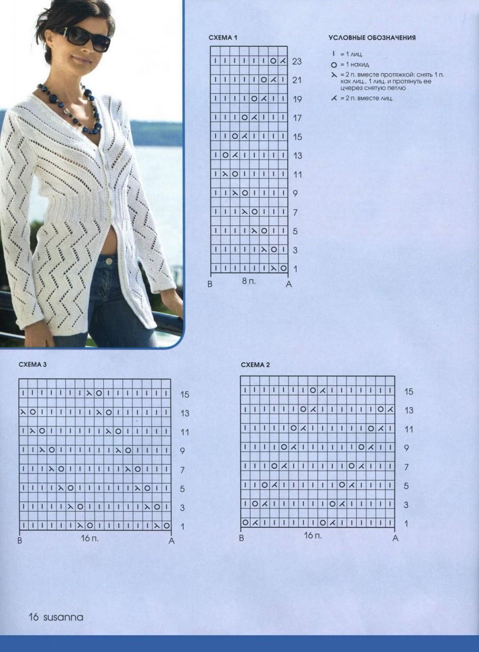 Кофточка схема вязания спицами