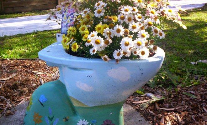 : Унитаз с цветами