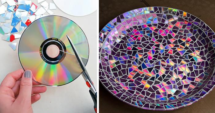 Объемные фигуры из сд дисков