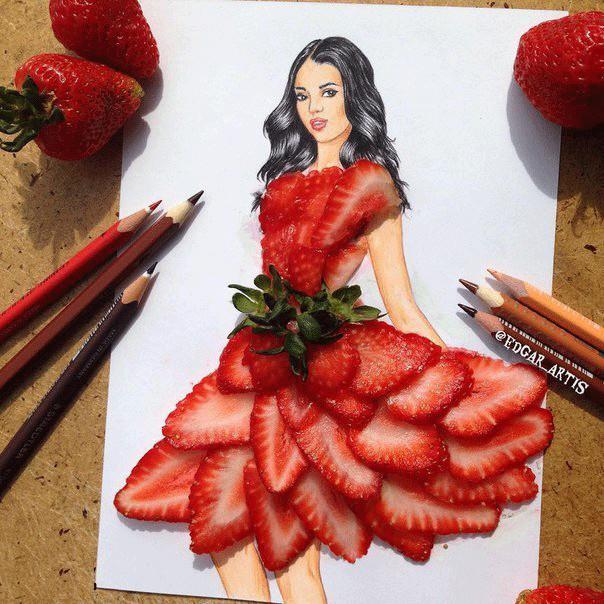 Вкусные платья  художника Edgar Artis