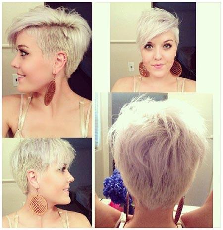 Фото модные стрижки на короткие волосы на одну сторону