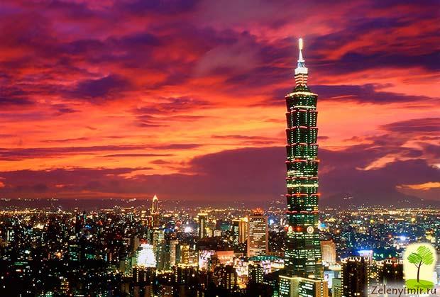Гигантский небоскреб Тайбэй 101 в Тайване - 8