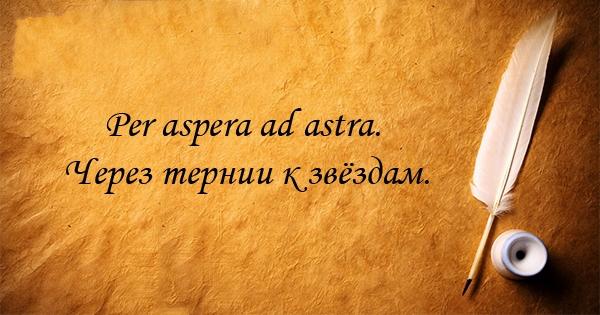 Перевод афоризм на латынь