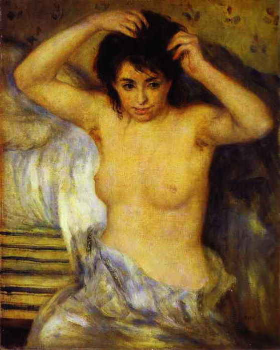 Pierre-Auguste Renoir - Bust of a Woman, also called Before the Bath or The Toilet (561x700, 95Kb)