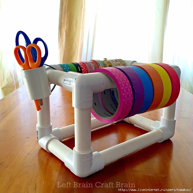 DIY-PVC-Pipe-Tape-Holder-Left-Brain-Craft-Brain (650x650, 233Kb)