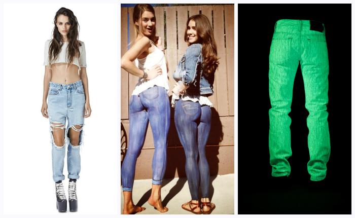 Их носят все: 13 пар ну очень оригинальных джинсов