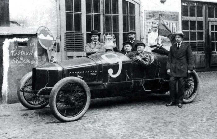 Руссо-Балт С24/58 после гонок, 1913 год.