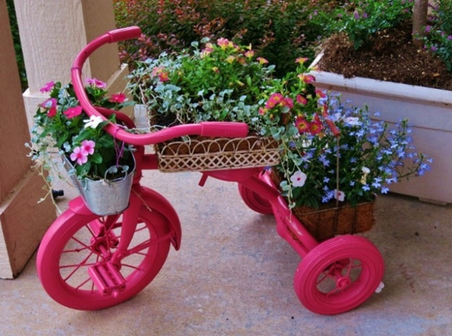 Декор для сада велосипед своими руками