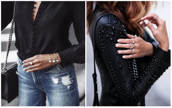 Классический черный цвет в модных образах на осень 2018