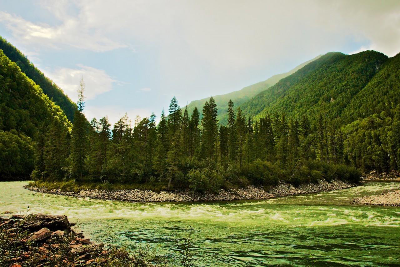 Небольшой островок на реке Китой. красота, природа, россия