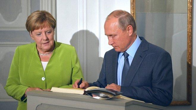 Переговоры Путина и Меркель …