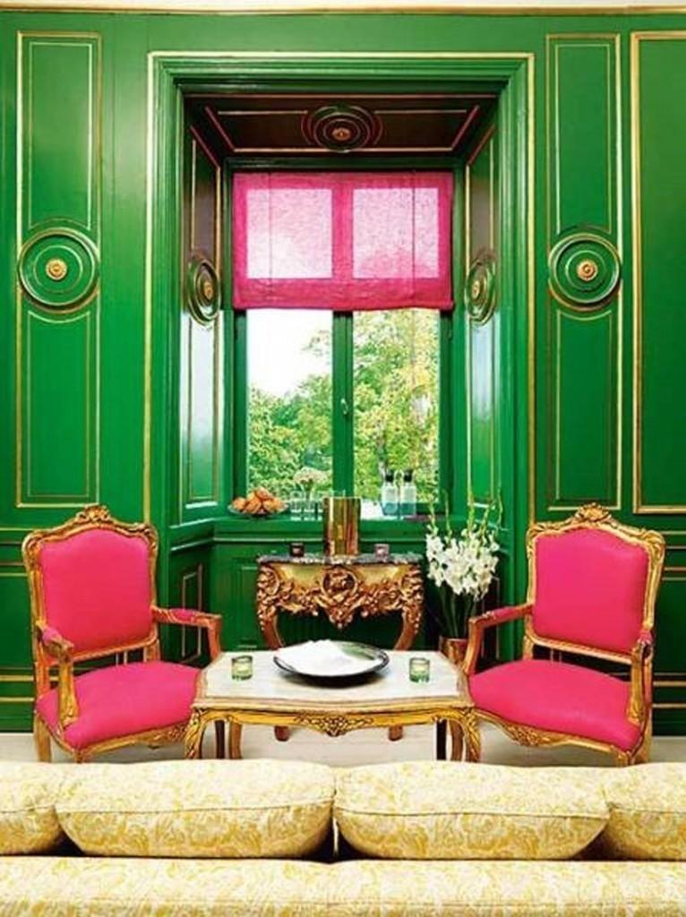 Восхитительный зеленый в дизайне интерьера