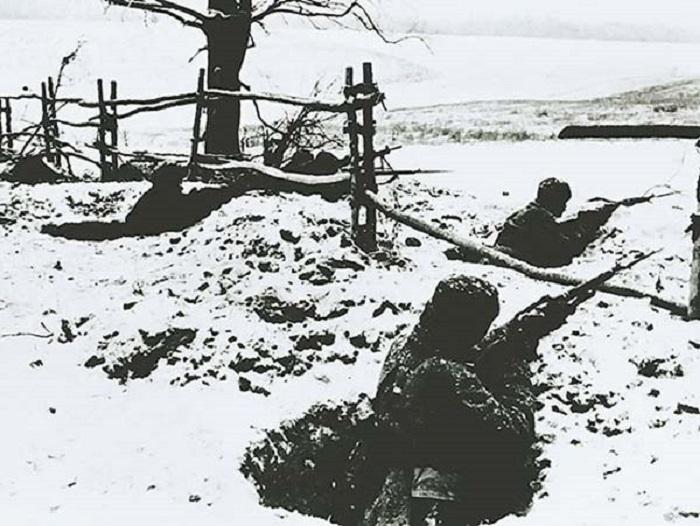 Передний край обороны пехоты.