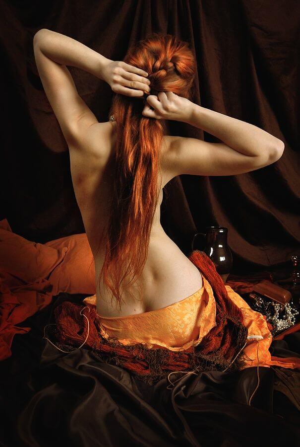 фотографии рыжих женщин сзади