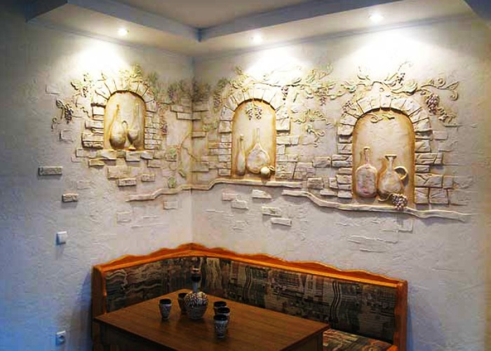 Барельефы на стенах дизайн