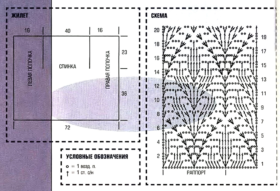 Крючок вязание безрукавки схемы и описание 506