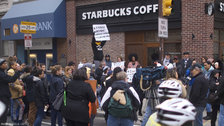 Protesters Call Out Racial Double Standard After Black Men Arrested At Starbucks
