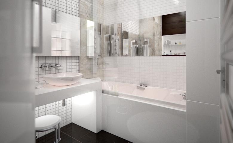 2 способа увеличить небольшую ванную