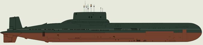 Советская подводная лодка «Акула»