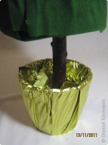 Мастер-класс, Свит-дизайн: МК елочки из конфет Новый год. Фото 15