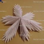 Объёмная бумажная снежинка