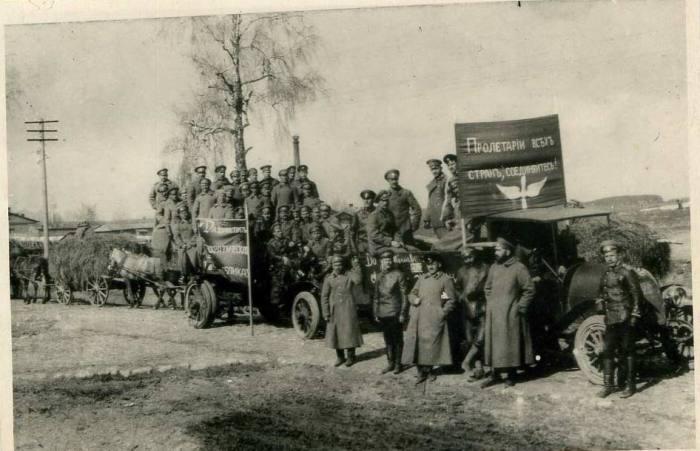 1-е отделение Минского корпусного отряда. Город Минск, 1 мая 1917 года.