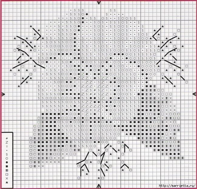 ФИАЛКИ - миниатюрная вышивка крестом (7) (650x623, 429Kb)