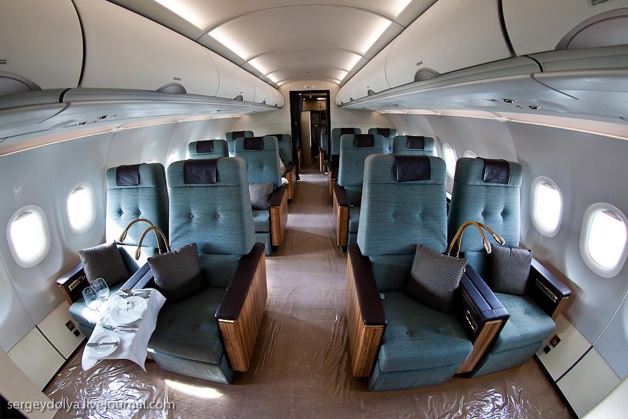 2828 Бахрейнский авиасалон: Интерьеры самолетов