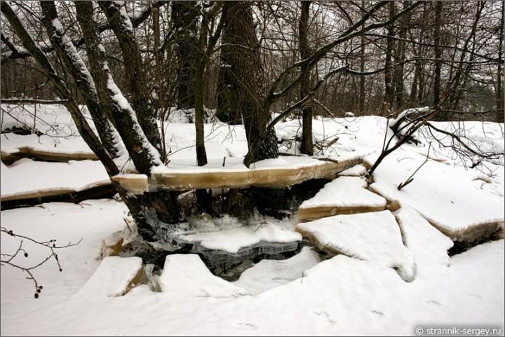 Хрустальные берега зимней реки