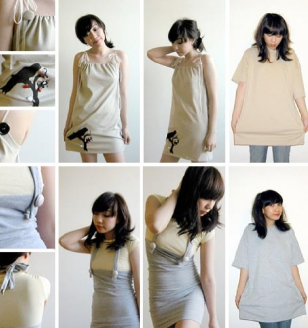 А еще, можно пофантазировать и несколько футболок перешить в модный наряд
