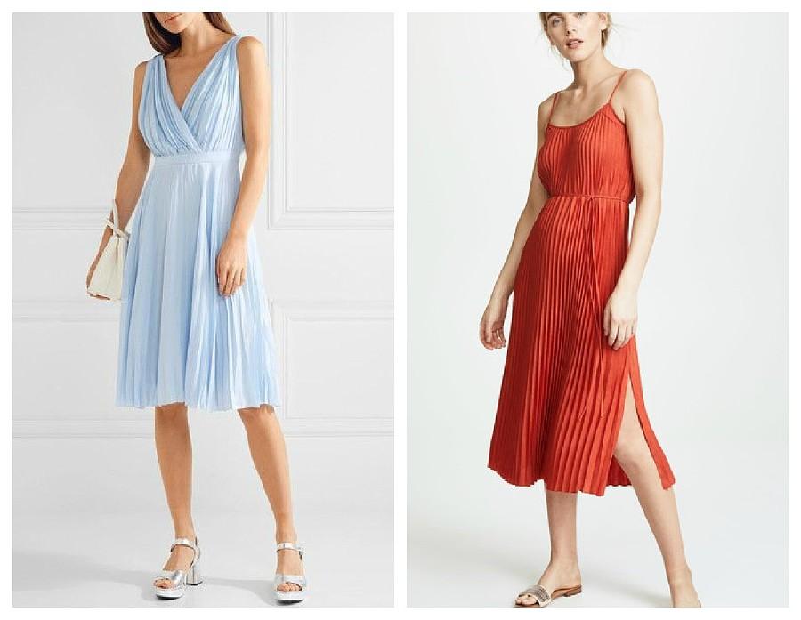 Модные плиссированные платья в 2018-м