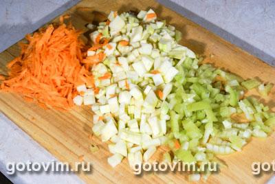 Сырный суп с кабачками, Шаг 01