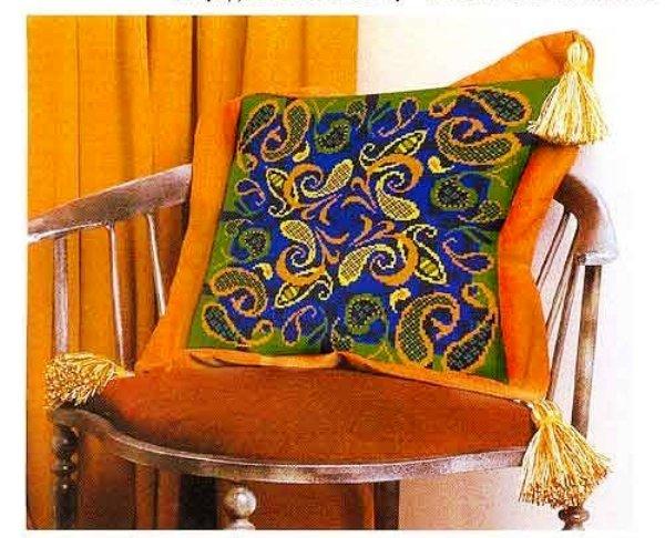 Схемы от «Риолис» для вышивки крестом очень красивой подушки