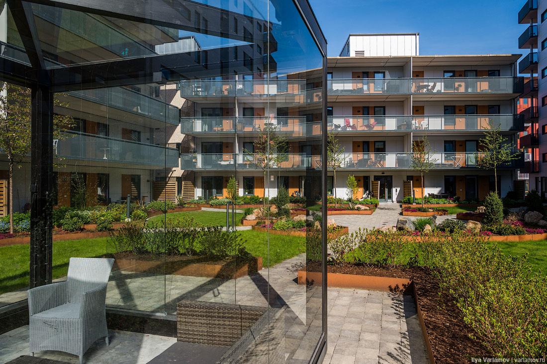 Новый район в Гётеборге. Хотели бы так жить?