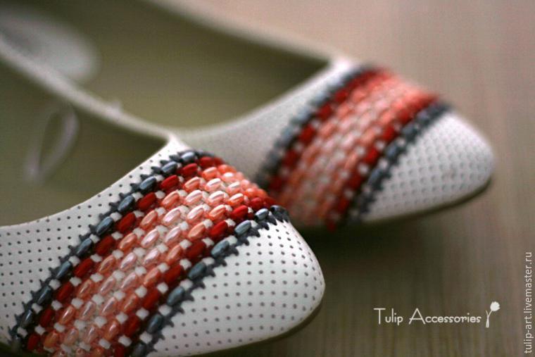 Стежок за стежком — обновляем балетки при помощи вышивки  (мастер-класс)