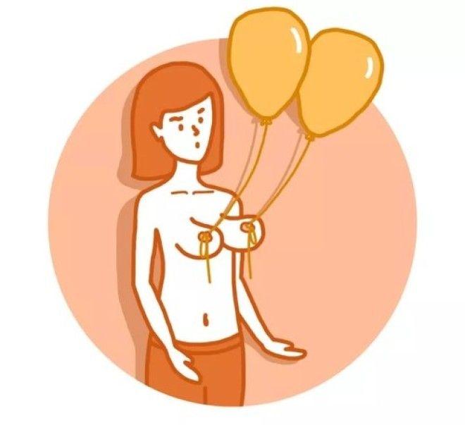 Чтобы грудь не обвисла - попробуйте эти 9 приемов. И попробуйте не засмеяться!