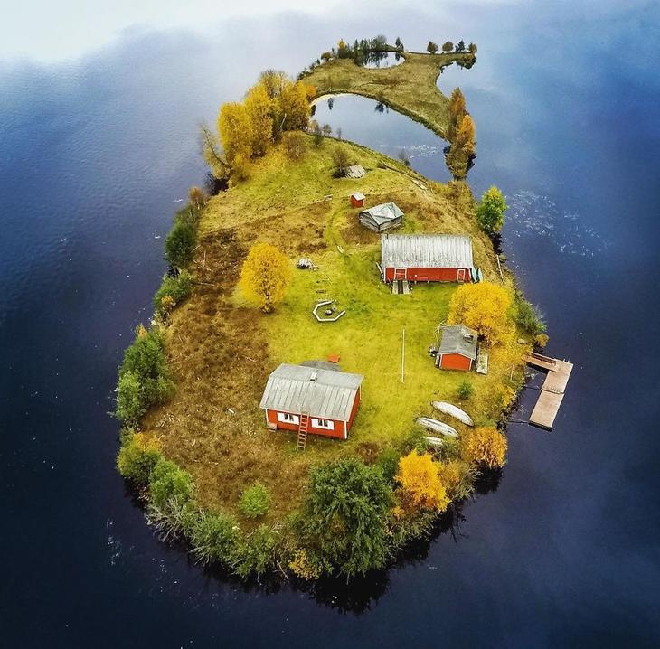 Остров Котисаари в Финляндии восхитительно выглядит во все времена года
