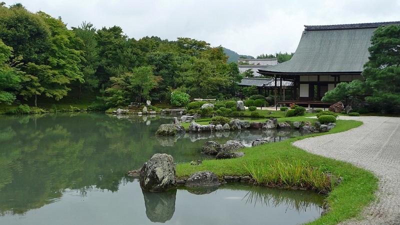 Бамбуковая роща Сагано. Храм Тэнрю-дзи.