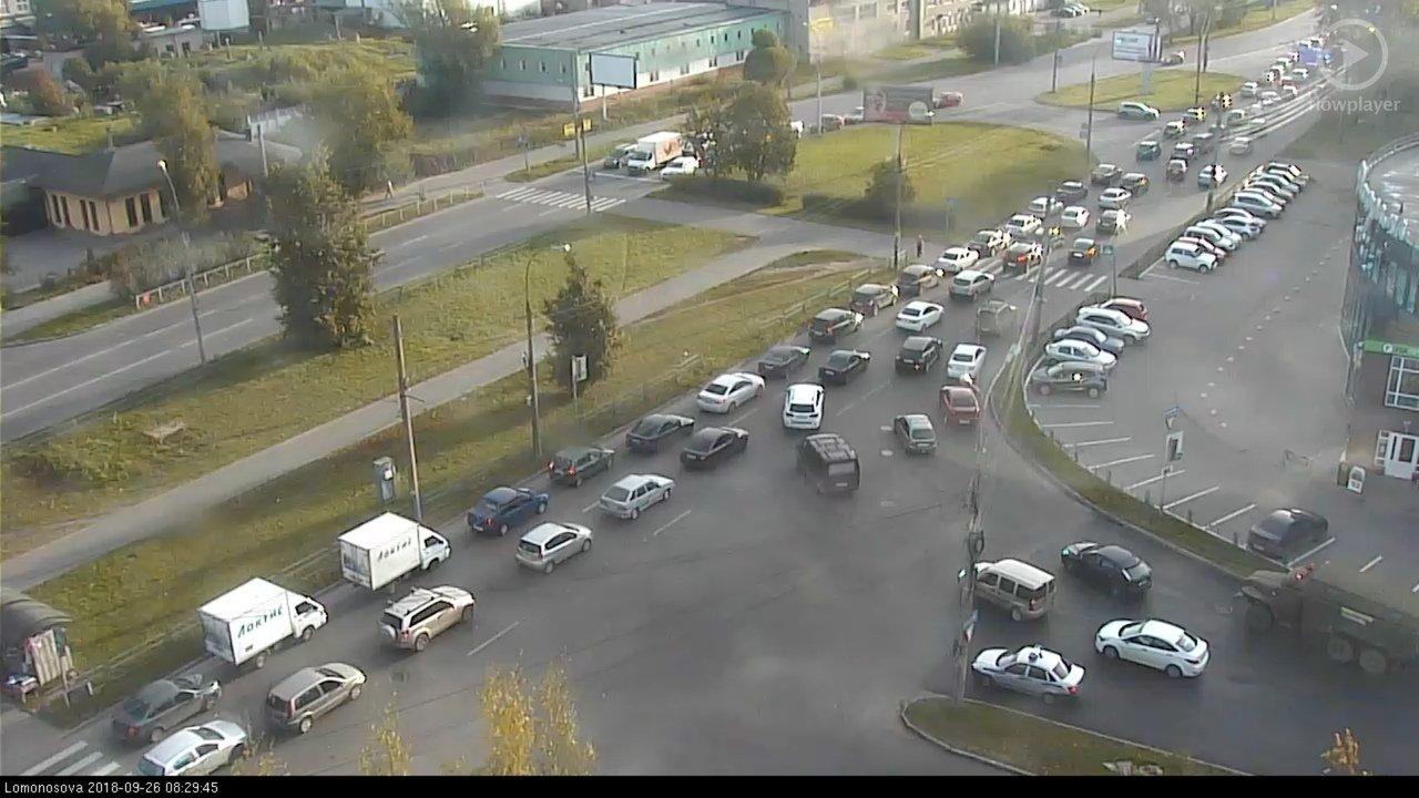 ДТП стало причиной огромной пробки на объездной трассе Владивостока