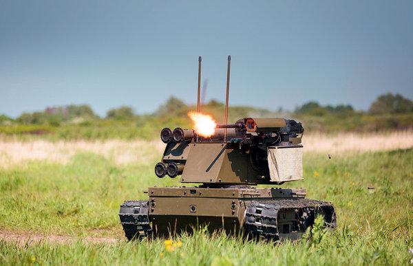 Российские роботы готовы атаковать танки противника!