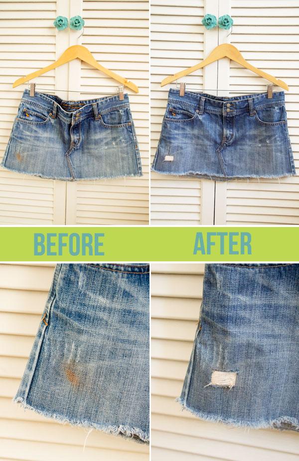 Как красиво спрятать пятно на джинсах