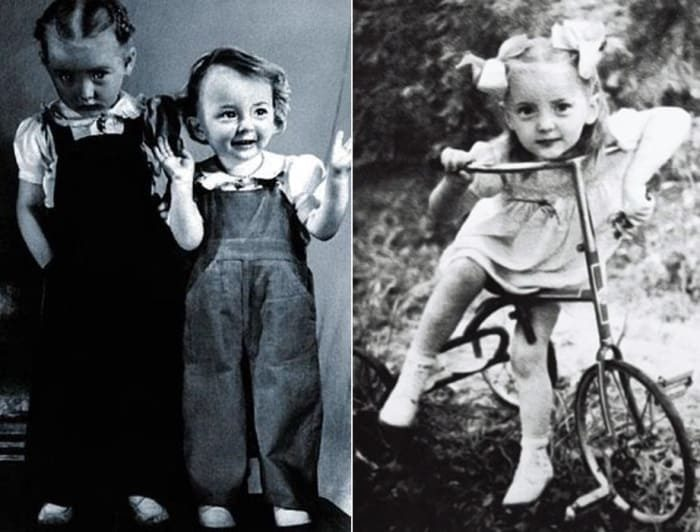 Сестры Вертинские в детстве