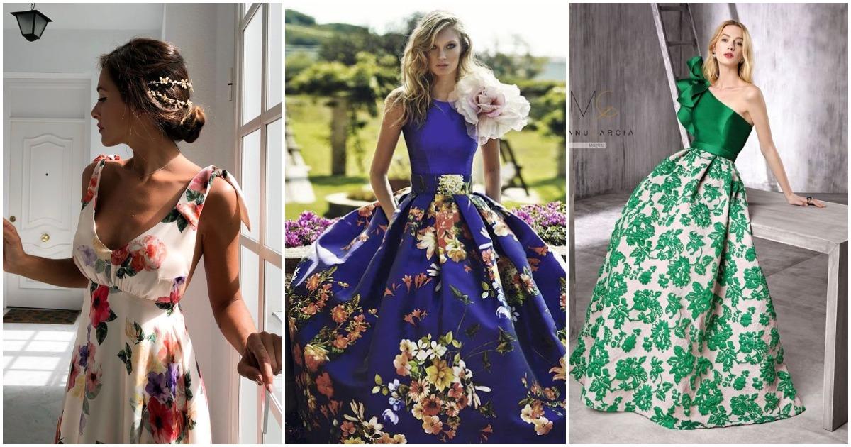 Цветочный принт для вечернего образа: самые красивые платья