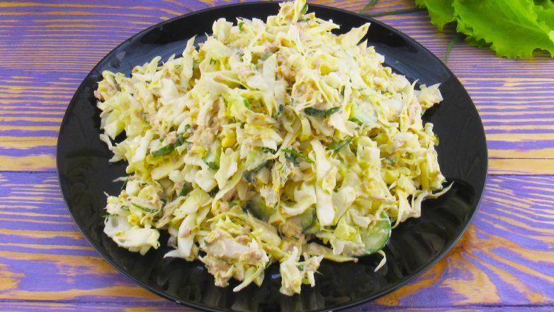 Салат из капусты на каждый день! Вкусно и быстро!