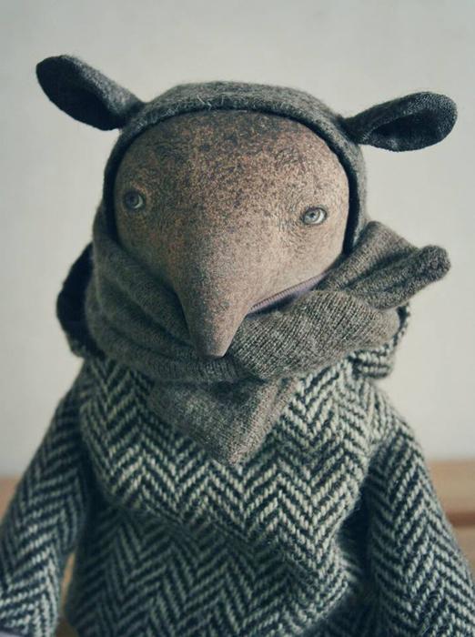 Тапир Йонни. Авторские куклы Марины Глебовой.