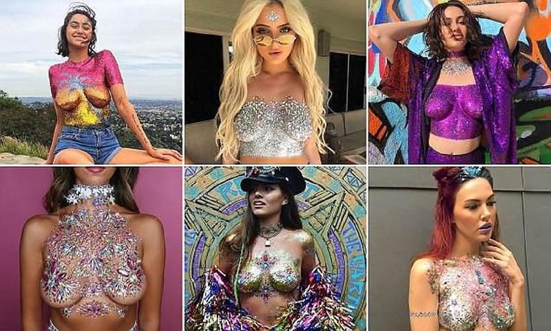 Сияющий бюст - самый модный фестивальный тренд