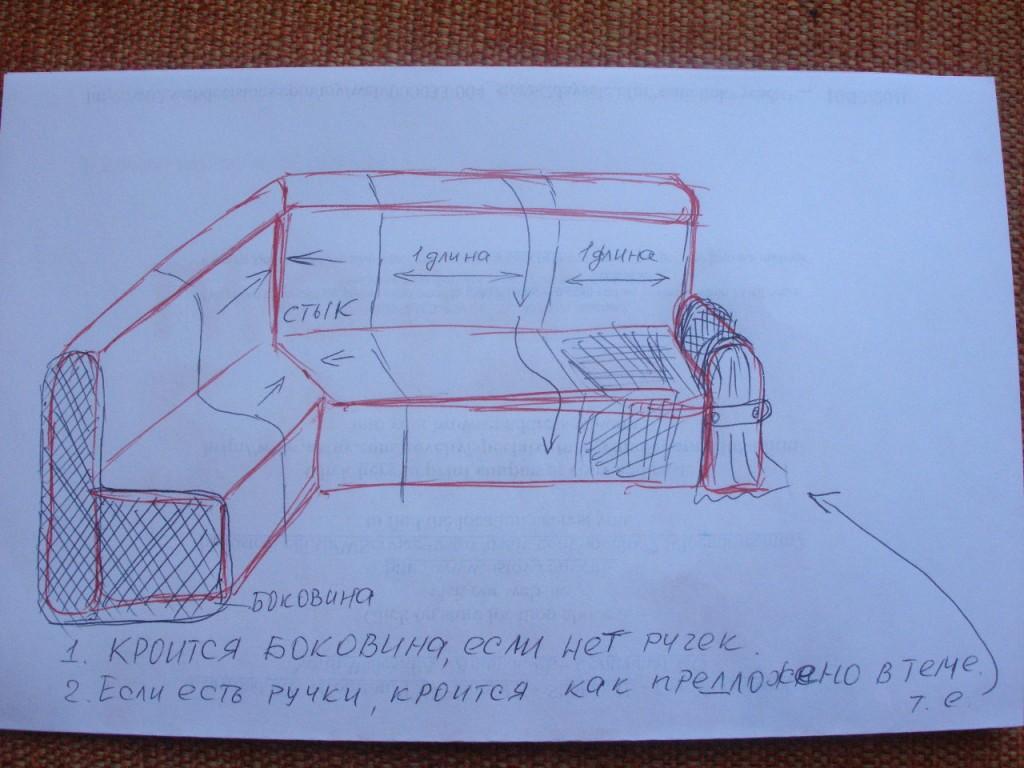Как сшить чехол для углового дивана своими руками фото